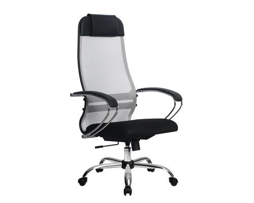 Кресло Samurai Ultra SU-1-BK 18 светло-серый, сетка/ткань, крестовина хром Ch