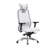 Кресло Samurai SL-3.04 сетка/кожа, белый лебедь