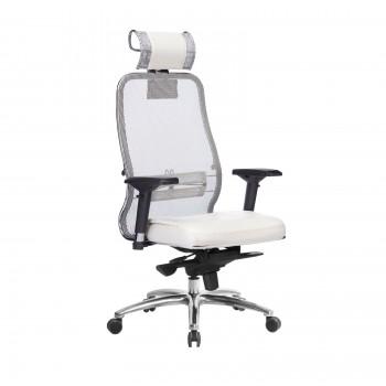 Кресло Samurai SL-3.04 сетка/кожа, белый лебедь - оптово-розничная продажа